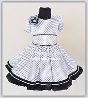 """Дитячий комплект """"Парижанка"""" для дівчинки. Натуральна підкладка, з'ємна нижня спідничка. На замовлення."""