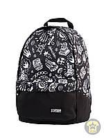 Рюкзак, наплечник 25 Л ( унисекс ) ( с отделением для ноутбука ) Urban Planet - Mack BLK  ( чёрный / белый )