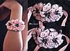 """Браслет на руку с цветами """"Персиковые гладиолусы"""""""""""