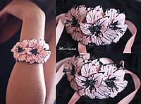 """Браслет на руку с цветами """"Персиковые гладиолусы"""""""", фото 1"""