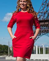 Трикотажное платье для полных | 2118 sk