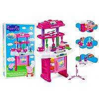Игровой набор Кухня Пеппы XZ-368, розовая, 30 предметов, 65см, подвижный кран, духовка с дверцей