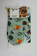 Набор для кухни Моя Кухня, комплект: рукавица 16х26 см, полотенце 37х62 см, дизайн Пицца