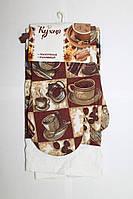 Набор для кухни Моя Кухня, комплект: рукавица 16х26 см, полотенце 37х62 см, дизайн Эспрессо