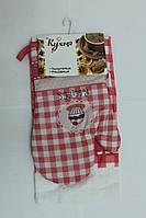 Набор для кухни Моя Кухня, комплект: рукавица 16х26 см, полотенце 37х62 см, дизайн Тістечко