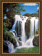 Картина Водопад. 300х400мм. №365 в багетной рамке