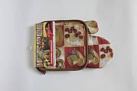 Набор для кухни Любимый дом, комплект: рукавица 16х26 см, прихватка 17х17 см, дизайн Латте