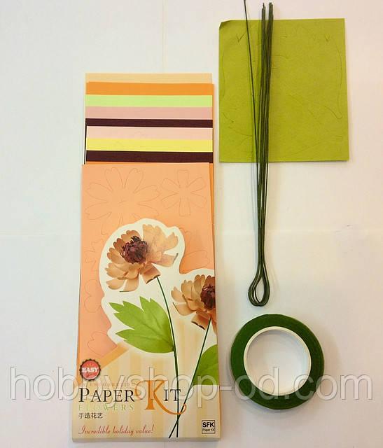 Набор для изготовления цветов из бумаги Пион - Hobby Shop Odessa товары для творчества в Одессе