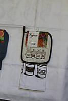 Набор для кухни Моя Кухня Джинс, комплект: прихватка 18х18 см, полотенце 38х64 см, дизайн Модерн