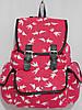 Рюкзак ласточки розово-красный