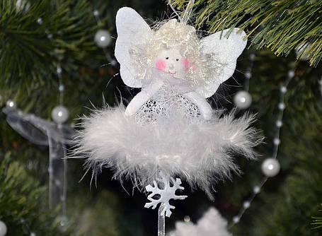 Новогодние украшения Ангелочек  подвеска ангел или елочка  0257, фото 2