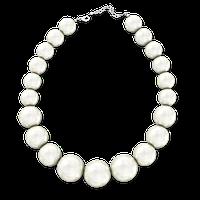 Ожерелье из крупного белого жемчуга 46 см