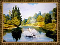Картина в багетной раме Лебединый танец №346