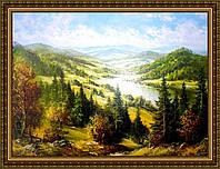 Картина в багетной раме Солнечные горы №354