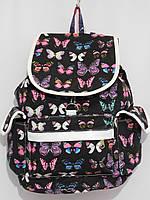 Рюкзак бабочки черный