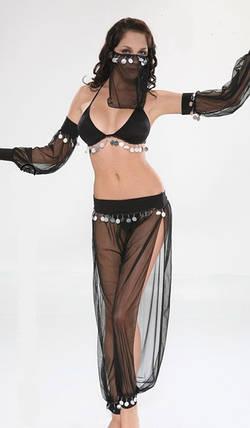 Костюм восточной танцовщицы чёрный, фото 2