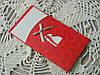 Открытка из картона с шелкографией