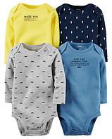 Боди с длинным рукавом (4 шт) Carters на новорожденного до 55 см