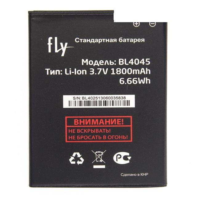 Оригинальный аккумулятор АКБ батарея Fly BL4045 / IQ4410i 1800mAh