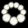 Браслет из крупного белого жемчуга 16 cм