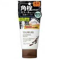 BCL Tsururi Pore Ghassoul Paste  пена — скраб для умывания и очищения пор с вулканической глиной, 120 г