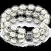 Браслет тройной из белого жемчуга 18 cм