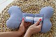 "Детская подушка для новорожденных ""Butterfly"", синий зигзаг, фото 4"