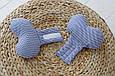 "Детская подушка для новорожденных ""Butterfly"", синий зигзаг, фото 5"
