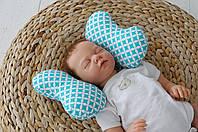"""Детская подушка для новорожденных """"Butterfly"""", бирюза, фото 1"""