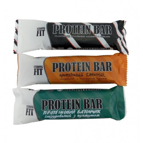 Протеїновий батончик Strong Fit 32% 60 г