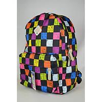 Школьный рюкзак для девочки разноцветные шашки