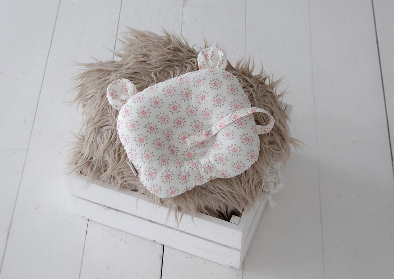 """Детская подушка для новорожденных """"Мишкины ушки"""", цветы"""
