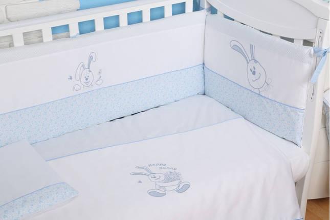 Постельный комплект Veres Happy Bunny, 6 эл., голубой, фото 2