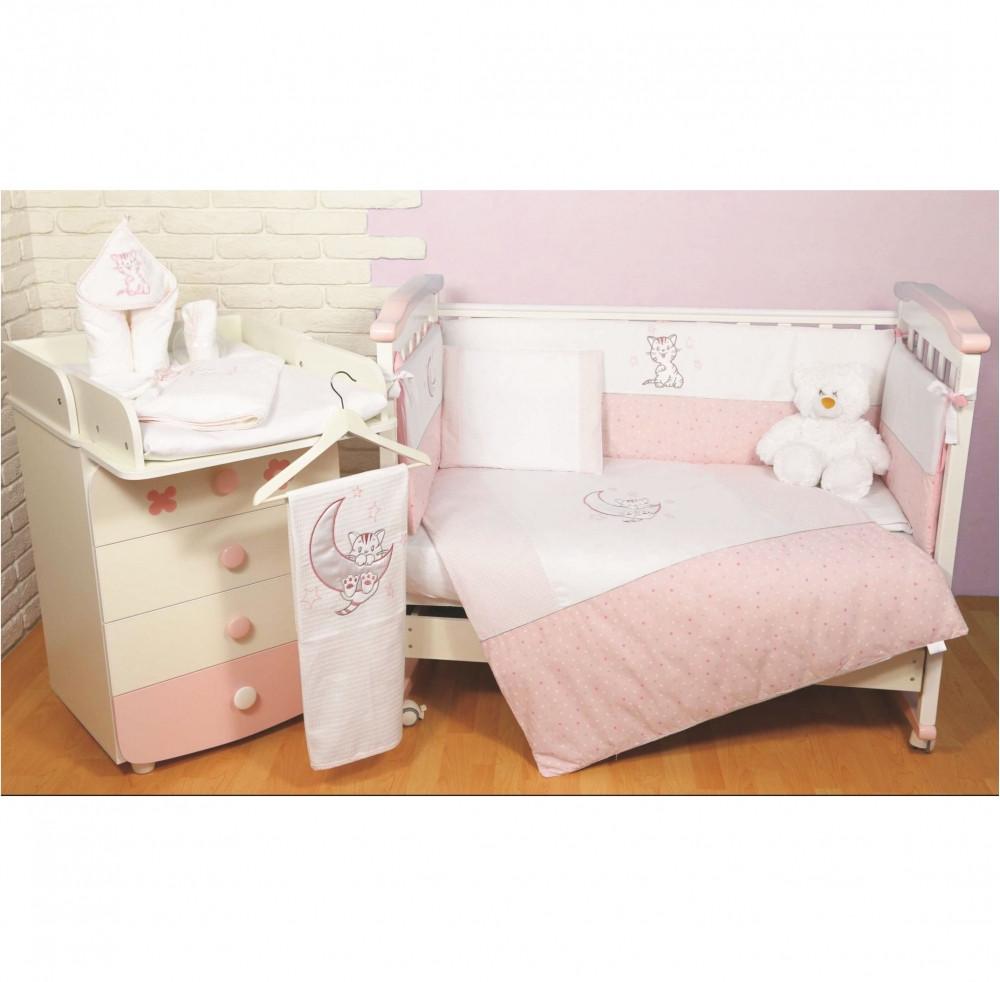 Постельный комплект Veres Little Cat, 6 эл., розовый