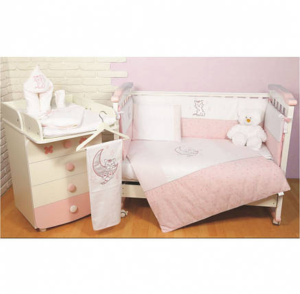 Постельный комплект Veres Little Cat, 6 эл., розовый, фото 2