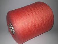 Пряжа 40% шерсть, 25%-лен, 35%-шелк, коралловый цвет, Италия, Filatti Buratti