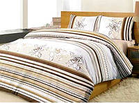 Полуторный комплект постельного белья Altinbasak Line Flower, ранфорс, Турция