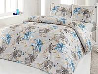 Полуторный комплект постельного белья Altinbasak Zambak, ранфорс, Турция