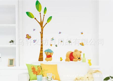Дизайнерская наклейка Спящий Винни, фото 2