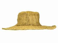 Шляпа тканая натуральная