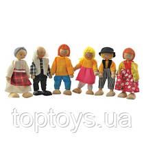 Деревянные игрушки МДИ - Набор кукол (6 штук) Д276