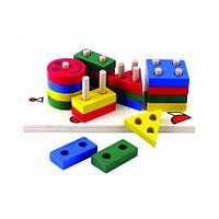 Деревянные игрушки МДИ - Пирамидка клоун (Д224)