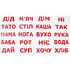 Комплект карточек - Чтение по Доману 20 (украинский язык)