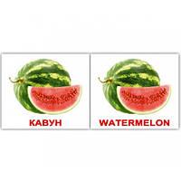 Комплект карточек - Фрукты Fruit МИНИ 40, фото 1