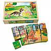 Развивающие кубики с рисунками Bino - Домашние Животные 84175