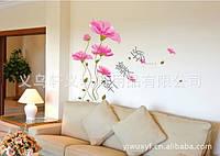 Дизайнерская наклейка Розовый цветок
