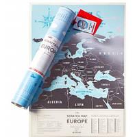 Скретч карта Европы Travel Map - Silver (SE)