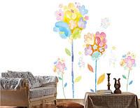 Дизайнерская наклейка Цветы из мультфильма