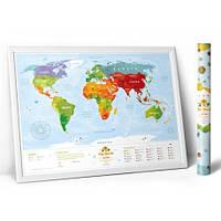 Скретч карта мира для детей Travel Map - Kids Animal (KA)