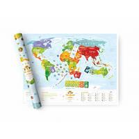 Скретч карта мира для детей Travel Map Kids Sights